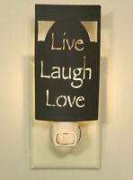 Live-Laugh-Love new rustic tin Night Light