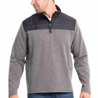 82 A Fila Mens Hoodie Heather Gray Grey White Black Fleece