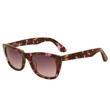 Just Cavalli - Purple Animal Print Cat Eye Style Sunglasses with Case