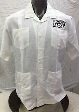 db383a5c Cubavera Men's Short Sleeve Guayabera Shirt Size L Bright White