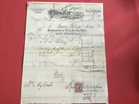 James Wilson and Sons 1881 Spades and Shovels Illustrated   receipt R33056