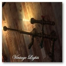 Vintage Retro Industrial Wall Light Machine Gun Modern Style Chandelier New UK