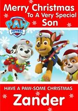personalised Christmas card Paw Patrol Any name/relation
