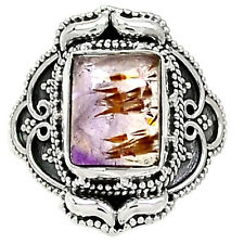 Cacoxenite Super Seven 925 Sterling Silver Ring Jewelry s.8 RR31769