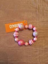 NWT Gymboree Fruit Punch Pink Beaded Stretch Bracelet