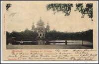 Bremen alte Ansichtskarte 1900 gelaufen Partie am Parkhaus mit Hollersee
