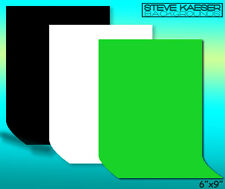 PBL Chromakey Green Black White 5ft x 9ft Backgrounds Backdrops Steve Kaeser