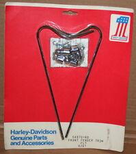 NOS Vintage Original Harley Shovelhead Front Fender Trim #58970-80 Original Box