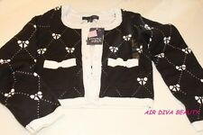 Brand New Girls Kids Pumpkin Patch Black Bow Cardigan Jumper Knit wear 6yr