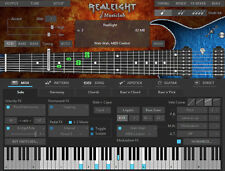 NEW Music Lab Real Eight 8 String Virtual Guitar Instrument WIN/MAC