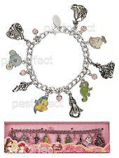Disney Store PRINCESS CHARM BRACELET Ariel Rapunzel Belle Aurora Cinderella NIB