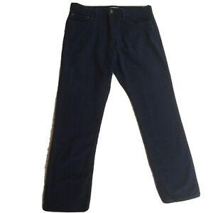 """M & S Collection Men's Navy Cotton Moleskin Trousers Size 34/29 34"""" Waist"""