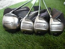 TaylorMade 300 Series Driver + Woods Set (4pc) Graphite Golf Clubs + Headcovers