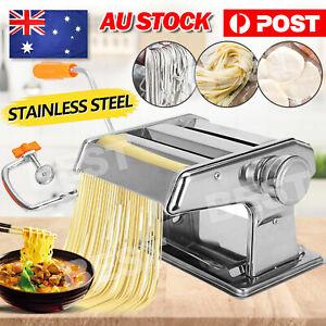 Pasta Noodle Maker Machine Cutter Fresh Spaghetti Roller 6 Thickness Settings AU