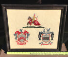 Coat Of Arms Family Crest Needlepoint Art Decor Knight Horse Deer Bradford Name