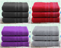Pack of 3 Luxury Bath Towels Design Border Soft touch Beautiful colours Large !!