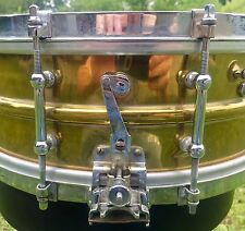 1918 1920's 1930's Brass Ludwig Super Sensitive Snare  RARE!!!