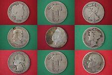 Make Offer Preppers Survival $10.00 Face Value 90% Silver Coins 10 Halves Incl