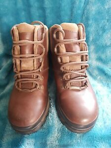 Women Ladies Brasher Hillmaster Gore-tex Walking Boots Leather Size 6.5 UK 40 EU