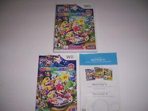 Original Box Case for Mario Party 9 Nine w/ Manual & Inserts Nintendo Wii