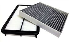 AIR FILTER + CARBONIZED CABIN AIR FILTER for HONDA Odyssey Pilot ACURA MDX