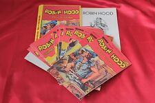 serie a fumetti anastatica ROBIN HOOD DE LEO COMPLETA 1/15 con raccoglitore