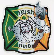 Reflective fireman Sticker Maltese Irish Pride