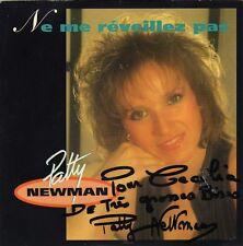 PATTY NEWMAN NE ME REVEILLEZ PAS / OU VAS-TU ANGEL FRENCH 45 SINGLE DEDICACE