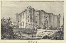 1837 litografia La Bastiglia Parigi