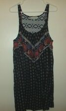Almost Famous Size L Multi-Color Sleeveless Rayon Casual Tank Top Shift Sundress