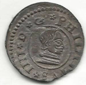 Felipe IV 16 Maravedis 1662 Seville R. @Excellent@