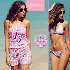 Lipsy London Ladies Womens Ombre Playsuit Bikinis Top Briefs Swimwear Size 16 18