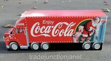 "1997 38""L HUGE COCA-COLA SANTA HEAVY CARDBOARD DELIVERY TRUCK STORE DISPLAY SIGN"
