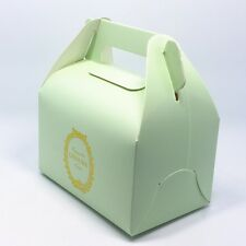 Cake Gift Kraft Paper Box with Handle for Wedding Party Favor 5.1x3.3x.3.1inches