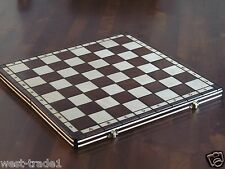 Brand New Hand Crafted  Wooden Chess  Board 42.5cm x 42.5cm