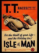 Impresión arte cartel Sport anuncio Tt carreras de bicicletas de Isla de Man 1967 nofl0851