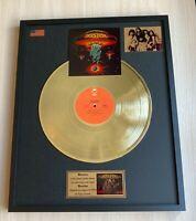 Boston Boston 1976 Custom 24k Gold Vinyl Record in Wall Hanging Frame
