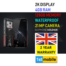 "Rugged SMARTPHONE, ELEPHONE Soldier 2K 5.5"" Schermo 4/128GB IMPERMEABILE 21MP UK"