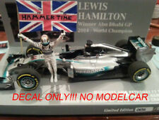 additional HAMMERTIME decals flag Mercedes W05 Hamilton WC 2014 1/43 mincihamps