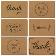 """36x Thank You Cards Notes Bulk With Envelopes Set for Wedding Baby Shower 4x6"""""""