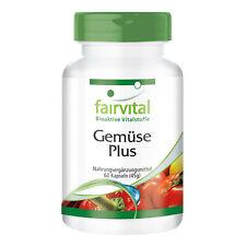 Gemüse Plus - 60 Kapseln | 37 Vitalstoffe | natürliches Multivitamin | fairvital