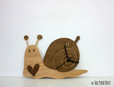Cute snail - Wooden Wall Clock