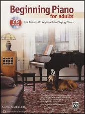 Début de piano pour adultes apprendre à jouer débutant méthode Sheet Music Book/CD