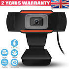 Full HD Webcam With Microphone MIC USB For PC Desktop Laptop UK Stock Genuine