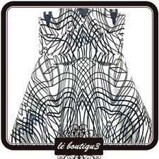 KEEPSAKE THE LABEL Black & white Dress Top Size M (A27)