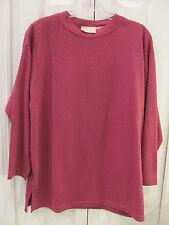ANN HILL Petite Medium Violet Pullover Roomy Comfy Blouse