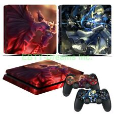 Fate Stay Night Anime Saber Vinyl Skin Sticker Decal Protector for PS4 Slim