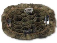 100% Human Hair Pull Thru Wiglet Filler Enhancer Top Piece w/ 4 clips sewn on