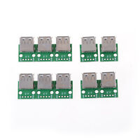 10Pcs USB 2.0 To DIP 4P 2.54MM PCB Board Adapter Converter For Arduino DIY