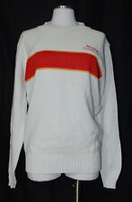 White Red MUMM CHAMPAGNE Long Sleeve Pullover Sweater Large Vintage